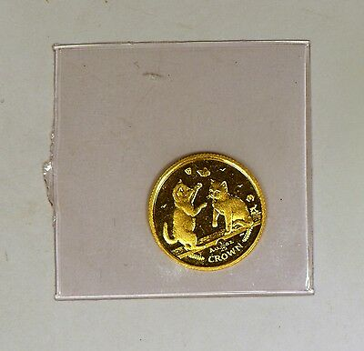 2004 Isle Of Man 1/25 Crown gold Tonkinese Kittens coin in original mint holder
