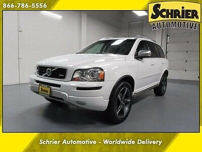 2013 Volvo XC90 3.2 R-Design Sport Utility 4-Door 13 Volvo Xc90 White AWD 7 Passenger Sunroof Leather Heated Seats HID Headlights