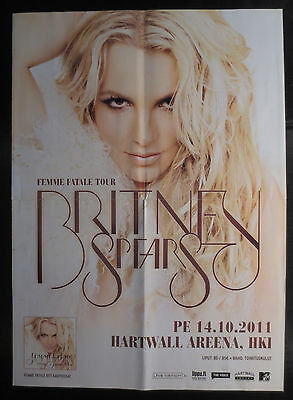 Finnish Miss Mix Britney Spears Femme Fetale Tour Helsinki Poster