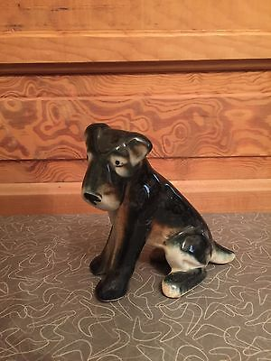 Vintage Ceramic Airedale Terrier Dog Figurine