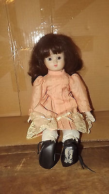 "PEACHY 17"" Bisque Porcelain Doll Beautiful U408A"