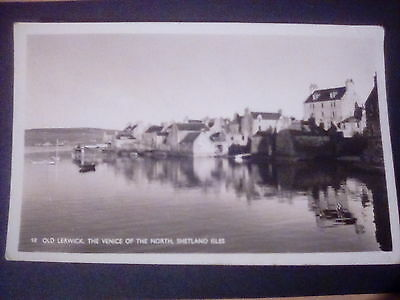Scotland,Shetland,Old Lerwick,Venice of the north,1967 Rp postcard.