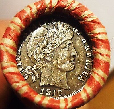 Mixed Coin Lot w / EF!! 1916 & EF!! 1913 FULL LIBERTY Barber Dime ends (a41