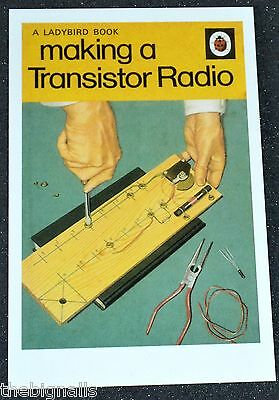 Ladybird Book Cover Postcard Making a Transistor Radio new