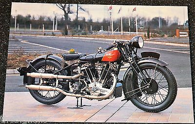 Classic 1928 1000cc COVENTRY EAGLE FLYING 8 . Motorcycle Postcard