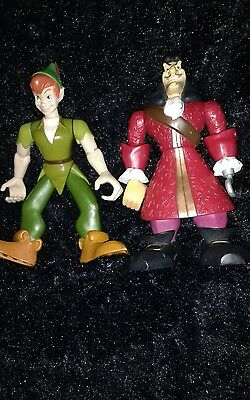 Peter Pan  And Captain Hook 6 Inch Moveable Figures