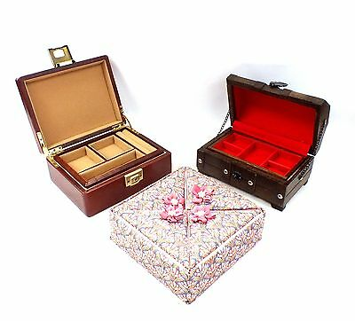 Job Lot Of 3 x Various JEWELLERY BOXES Nice Designs Unboxed - S79