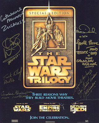 •Sale• Star Wars Collector Card 10x8 Multi Signed by 7 incl Anthony Daniels