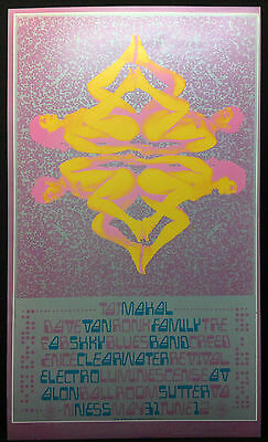 FD-121 FAMILY DOG 1968 Avalon Concert Poster CCR CREEDENCE CLEATWATER REVIVAL