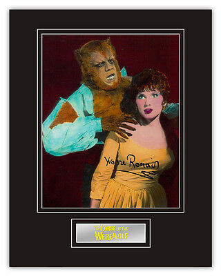 •Sale• The Curse Of The Werewolf Yvonne Romain (Servant) Signed 14x11 Display