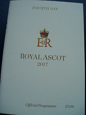 Royal Ascot Race card Fourth Day Thursday  2017. ( MINT )