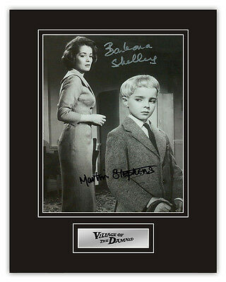 •Sale• Village Of The Damned M Stephens & Barbara Shelley Signed 14x11 Display