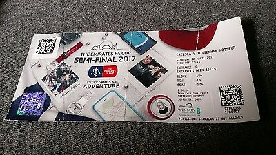 CHELSEA V TOTTENHAM HOTSPUR 22/04/17  FA CUP SEMI FINAL Spurs USED TICKET
