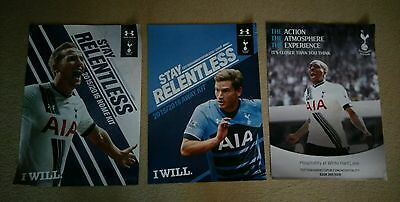 Tottenham Hotspur Promotional Posters 2015/16 - Rare - Set Of Three - Spurs