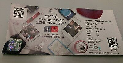 CHELSEA V TOTTENHAM HOTSPUR 22/4/17  FA CUP SEMI FINAL Spurs USED TICKET WEMBLEY