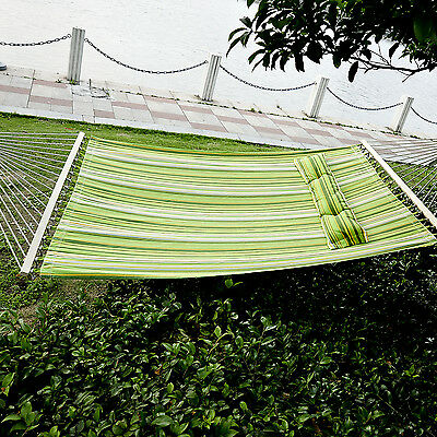 Outsunny Double Size Hammock Bed 2 User Outdoor Camping Hanging Swing Travel
