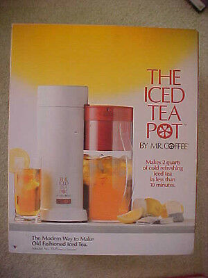 Red 1990ish Vintage Mr. Coffee TM1 The Iced Tea Pot 2QT USA made never opened