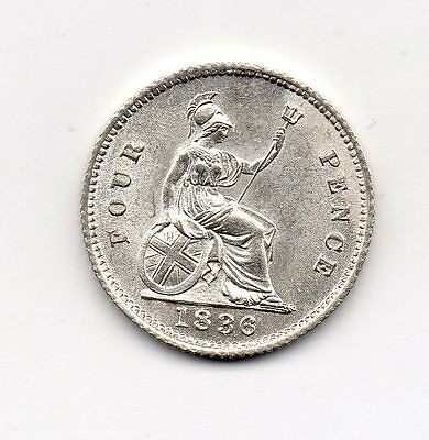1836 Groat, William Iv Bare Head, High Grade