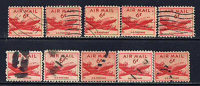United States #C39(2) 1949 6 cent Airmail - DC-4 SKYMASTER Plane 10 Used