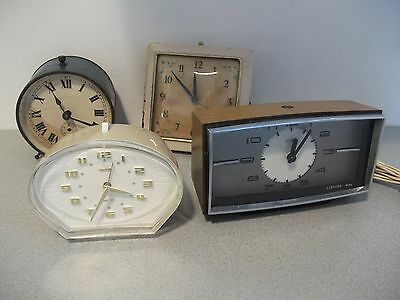 4 Vintage Alarm Clocks for Restoration
