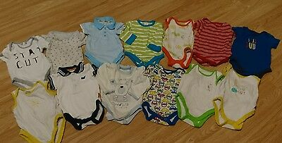 a bundle of 13 baby bodysuits age 3-6 months