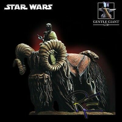 Gentle Giant Star Wars Tusken Raider on Bantha Statue New