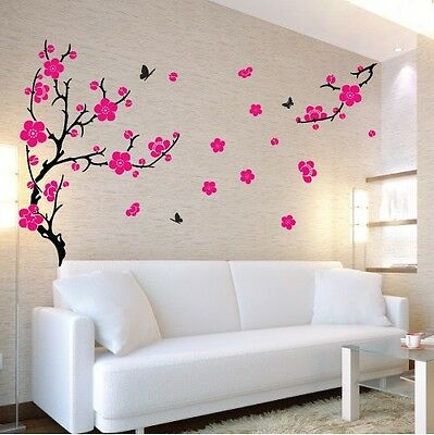 Large Flower Plum Blossom Wall Art Stickers, Wall Decal