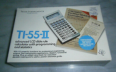 Texas Instruments TI--II Calculator with Case and Box