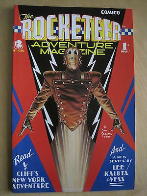 The ROCKETEER ADVENTURE MAGAZINE 1. DAVE STEVENS, LEE, KALUTA etc. COMICO.1988