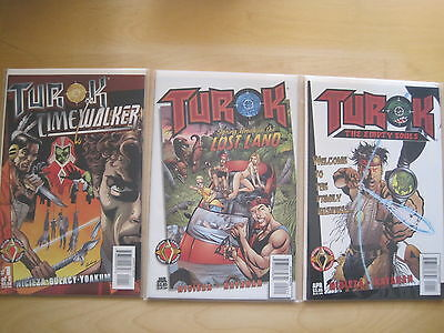 TUROK : Bundle of EMPTY SOULS + LOST LAND + TIMEWALKER 1. VALIANT / ACCLAIM.1997