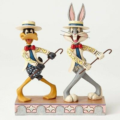 Disney Traditions Looney Tunes by Jim Shore Bugs Bunny and Daffy Duck Statue New