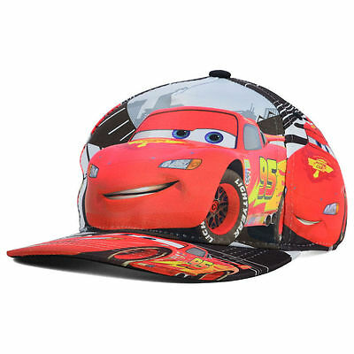 Disney Cars All Over Lightning Mcqueen Child Size Snapback Osfa Hat/cap Nwt