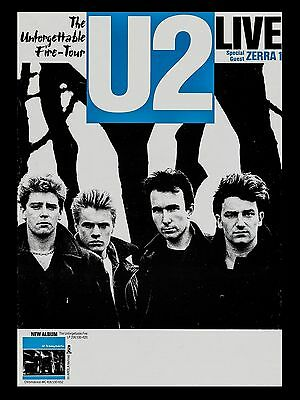 "U2 Unforgettable Fire 16"" x 12"" Photo Repro Promo Poster"