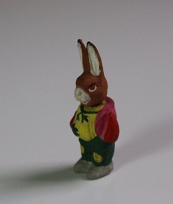 Antique Early 20thC Bisque Easter Bobble Head Bunny