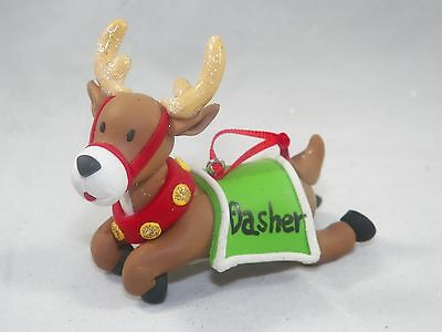 Dasher Santa's Reindeer Christmas Tree Ornament new holiday