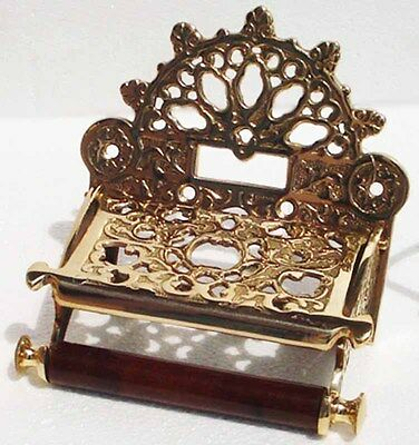 Home Decor Toilet Paper Holder Antique Solid Brass Victorian Tissue Holder 6702