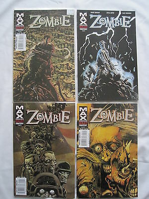 Zombie : Complete 4 Issue Series. Explicit Content. Marvel Max.2006