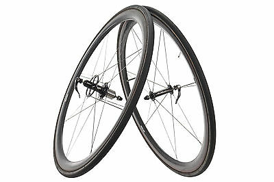 Rolf Prima Carbon Tubular Road Bike Wheel Set 10 Speed Shimano 700c Continental