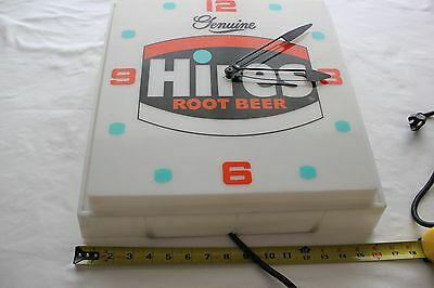 Vintage Hires Root Beer Light Up Clock Wall Hanging Advertising Soda Working