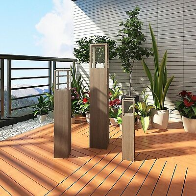 S# New 3pc Garden Candle Stand Wooden Holder Wedding Lighting Outdoor Torch 3 Si