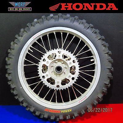 2001 Honda CR250 CR125 Rear Wheel Hub Spokes Tire Rim Assembly Disc 2000-2001