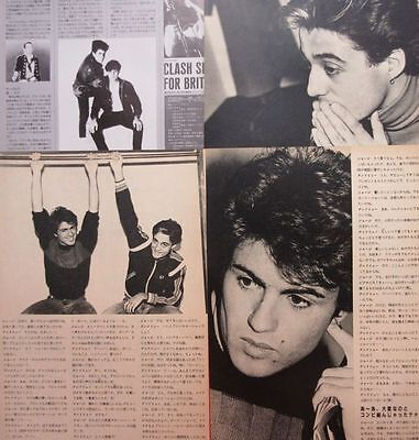 Wham! George Michael Andrew Ridgeley 1984 Clipping Japan Magazine A7 E8 5Page