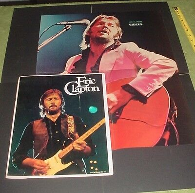 Eric Clapton 1975 There's One In Every Crowd Tour Concert Program Book & Poster