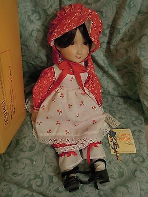 "The Gorham Collection: HOLLY HOBBIE 15"" Porcelain musical Doll; LC-350"