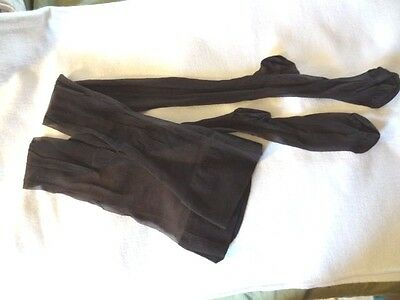 Vintage 1960s Hanes Garter Cantrece Nylon Stockings Smoke Mesh Sz 11-11 1/2 12T