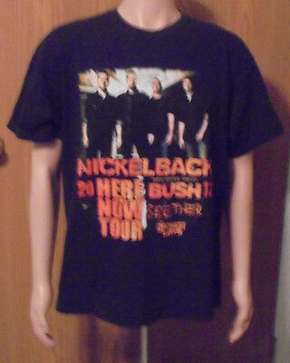 Nickelback 2012 Here & Now Tour Extra Large 2 Sided Short Sleeve Tee Shirt