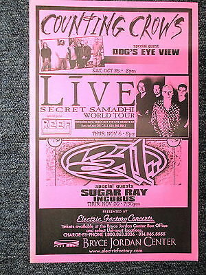 Counting Crows 311 Live Sugar Ray Concert Poster Philadelphia 11 X 17 ORIGINAL!