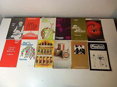 1970s Lot 29 THEATER PROGRAMS Piccadilly National Albery Globe / English Theatre