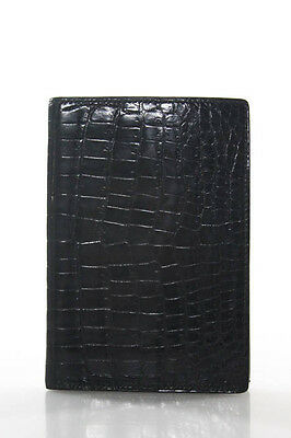 Hermes Black Noir Crocodile Grand Modele Agenda Book In Box