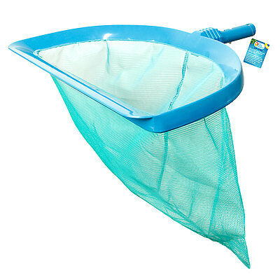 "Heavy Duty 20"" Wide Mouth Swimming Pool Leaf Rake with Deep Net Bag Clean Debris"
